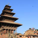 Der Nyatapola-Tempel wurde der Gottheit Lakshmi geweiht. 30 Meter hoch und der höchste Tempel im Kathmandu-Tal.