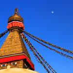 Noch ein Besuch bei der Boudhanath Stupa...
