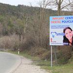 Das erste was nach der Grenze zu Kroatien in Sicht ist...