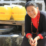 Zu Besuch im Upper-Camp bei Tashi's Frau