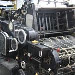 Eine Original Heidelberg Druckmaschine! ich weiss, dass jetzt einige Herzen hoeher schlagen... ;)
