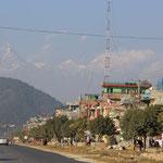 Dort hinten ist der Machapuchare oder eben das Nepalesische Matterhorn