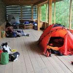 Campen auf der Laube