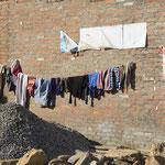 Wäsche wird bekanntlich überall gewaschen und gehängt