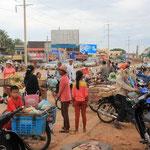Auf den Strassen Kambodscha's laeuft immer was!
