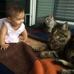 Imago und Honey mit dem Baby