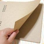 中のページは20枚です 。普通の紙よりも厚みがあるので、写真をたっぷり貼っても大丈夫です☆