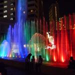 abendliche Lichtshow in Melakka