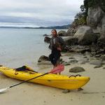 Tag 1: mit dem Kajak durch den Abel Tasman NP