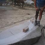 anfertigen eines Überlegers aus massiven Granit ritzen