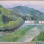 森と湖のある風景画コンクール入選作品(2011年5月高校2年) 四つ切 水彩