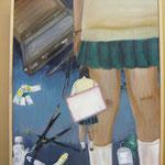全日本学生美術展 準佳作授賞作品(2011年2月高校1年)F20 油彩