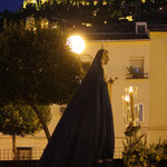 Primera salida por su barrio en Rosario vespertino. foto Julio López Galán