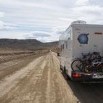 Sur la route 40, 100 kms de piste !