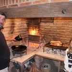La préparation de l'asado ...