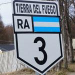 La route 3 de Buenos Aires à Ushuaia ...