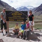 Pause au point de vue pour voir le plus haut sommet d'Amérique du sud !