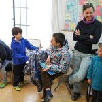 Les enfants expliquent leur voyage ...