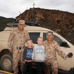 Avec des militaires péruviens !