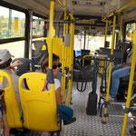 Bus au Brésil : u conducteur et un caissier ! Un tourniquet entre les deux !