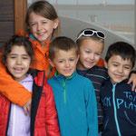 Les enfants avec Amparo et Bruno