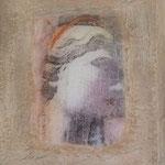 Madonna, acrylic on canvas, photo transfer