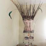 Margaret and Caroline 3D chicken wire,corset, reeds beads,
