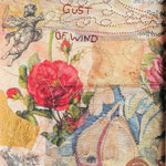 A Gust of wind, mixed media collage
