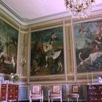 Château de Condé - Salon décoré par Jean-Baptiste Oudry (détail) - Condé en Brie champenoise de Picardie