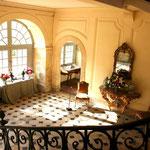 Château de Condé -Escalier d'honneur XVIII et sa fameuse rampe en fer forgé - Condé en Brie champenoise de Picardie