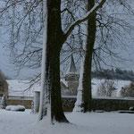 Il neige aussi en Picardie :-) - Château de Condé - Condé en Brie champenoise de Picardie