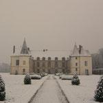Condé sous les neiges - Château de Condé - Condé en Brie champenoise de Picardie