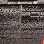 Druckplatte im Schriftsatz