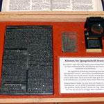 Druckplatte aus ca. 2600 einzelnen Typen