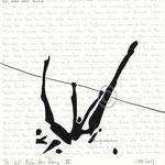 "Druckgrafik aus dem Zyklus ""Ich lobe den Tanz - VI"" - Motiv ca: 18 cm x 18 cm (BxH) - Blatt ca:. 22,5 cm x 29,5 cm (BxH)"