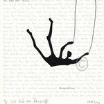 "Druckgrafik aus dem Zyklus ""Ich lobe den Tanz - XI"" - Motiv ca: 18 cm x 18 cm (BxH) - Blatt ca:. 22,5 cm x 29,5 cm (BxH)"