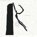 "Druckgrafik aus dem Zyklus ""Ich lobe den Tanz - III"" - Motiv ca: 18 cm x 18 cm (BxH) - Blatt ca:. 22,5 cm x 29,5 cm (BxH)"