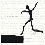 "Druckgrafik aus dem Zyklus ""Ich lobe den Tanz - V"" - Motiv ca: 18 cm x 18 cm (BxH) - Blatt ca:. 22,5 cm x 29,5 cm (BxH)"