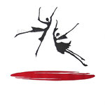 Linoldruck - Ich lobe den Tanz - Motiv-Größe von ca: 36x35 cm (HxB)