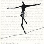 "Druckgrafik aus dem Zyklus ""Ich lobe den Tanz "" - Motiv ca: 18 cm x 18 cm (BxH) - Blatt ca:. 22,5 cm x 29,5 cm (BxH) -ausverkauft-"