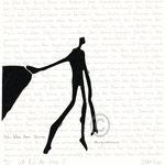 "Druckgrafik aus dem Zyklus ""Ich lobe den Tanz - I"" - Motiv ca: 18 cm x 18 cm (BxH) - Blatt ca:. 22,5 cm x 29,5 cm (BxH)"