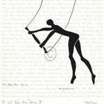 "Druckgrafik aus dem Zyklus ""Ich lobe den Tanz - X"" - Motiv ca: 18 cm x 18 cm (BxH) - Blatt ca:. 22,5 cm x 29,5 cm (BxH)"
