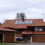 Wohnhaus, Engen-Neuhausen | fertig montierte Solaranlage