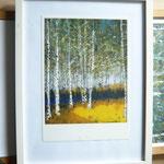 Birkenwäldchen Print Series A in frame (Simple frame)
