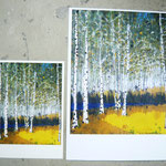 Birkenwäldchen Print Series A and B (A in 10x7.8 Inch) and (B in 15x12 Inch)