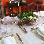 table d' hôtes. Détail