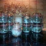Meine ersten Gewürzsalze - aus meinem selbst angebauten Kräutern (10/2012)