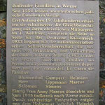 Gedenktafel an Jüdischen Friedhof