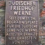 1985 wurde der Jüdische Friedhof in die Denkmalliste der Stadt Werne aufgenommen