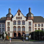 Rathaus der Stadt Hamm. Seit dem 11. März 1986 steht das Gebäude unter Denkmalschutz